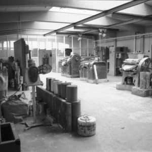 De Vos, verffabriek, plamuurafdeling, jaren 50