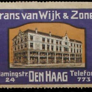 Sluitzegel, Van Wijk, metaalwaren, Vlamingstraat 24, ca. 1900