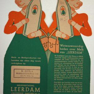 Leerdam, melkfabriek, reclame, 1946