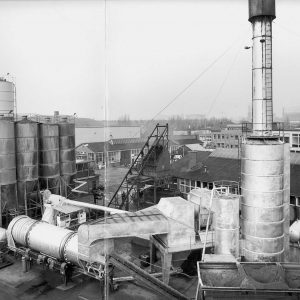 NBM BAM, asfaltfabriek, Zonweg, 1965