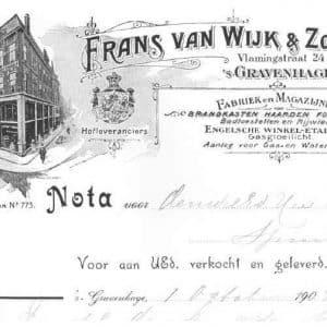 Frans van Wijk, metaahandel, ca. 1900