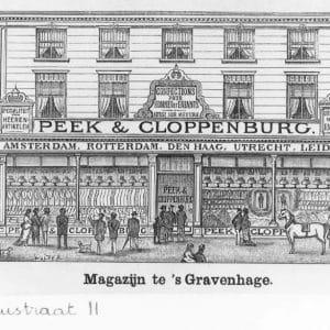 Eerste winkel P&C aan de Spuistraat 11, ca.1890