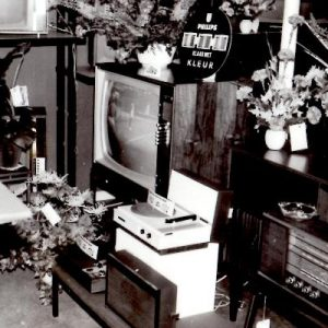 Stadhouder, elektronicawinkel, Thomsonplein, 1968