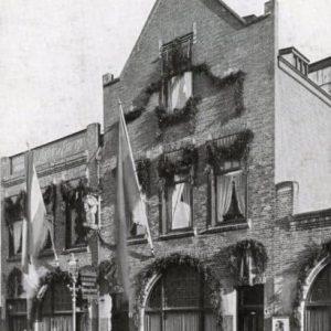 Gevelversiering, Drukkerij Luctor et Emergo, Amalia van Solmsstraat 2, 1937