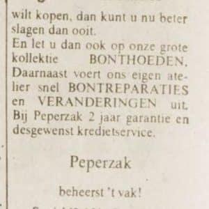 Peperzak Bonthuis ( ? - 1989)