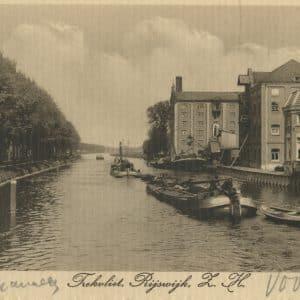 Trekvliet tussen Rijswijk en Voorburg, Stoommeelfabriek Koechlin, ca. 1920