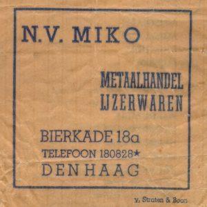Miko, papieren zakje, jaren 60