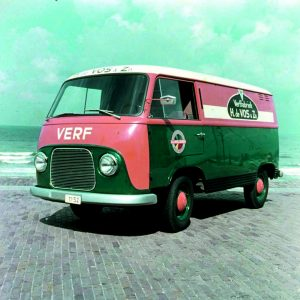 De Vos, verffabriek, bedrijfsbus, jaren 60