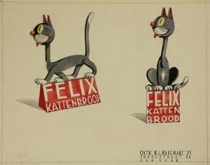 Felix Kattenbrood, reclameontwerp, W.L. Wagemans, 1935