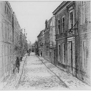 Tekening Nieuwe Havenstraat, ANDO, ca. 1943