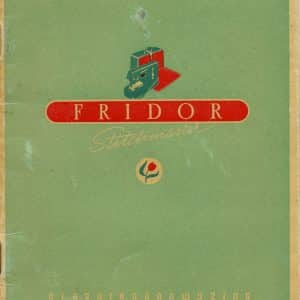 Fridor naaimachinefabriek (1947 - 1957)