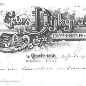 Gebr. Dijkgraaf, handelaar lompen, metalen en oud papier (ca. 1900 - 1960)