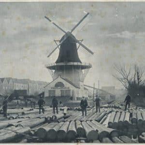Houtzaagmolen Prins van Oranje van de firma Van Gogh, ca. 1900