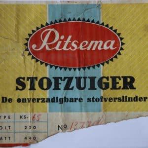 Ritsema, stofzuigers (ca. 1958 - 1985)