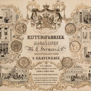 Rijtuifabriek Hermans, affiche, ca. 1860 - ca.1927)