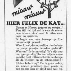 Reclame Felix Kattenbrood, radiogids, jaren 30