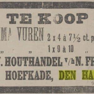 Fros, N. Stoomhoutzagerij en -schaverij (1885 - 1940)
