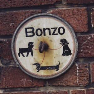 reclame hondenhaak slagerij, Rijswijk, jaren 90