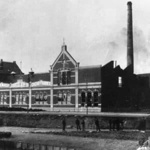 Rademakerfabriek na de brand aan de Havenkade, 1901