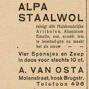 ALPA, Veursestraatweg 106, Leidschendam, advertentie, 1937