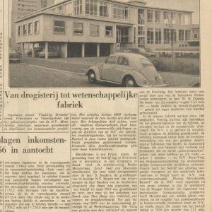 BEMA, nieuwe fabriek Fruitweg, 1957