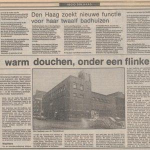 Badhuis, Spionkopstraat, Trouw, 13 aug 1980