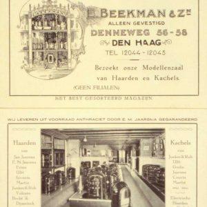 Beekman, reclame, kachels, jaren 20