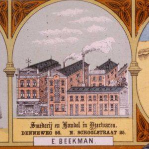 Beekman op de kaart van 1884