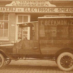 Beekman vrachtwagen ELVA, ca. 1915