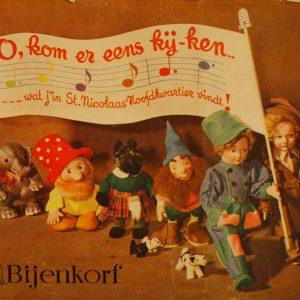 Reclamekrantje Bijenkorf Sinterklaas, 1937