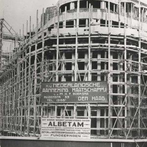 Bijenkorf in aanbouw, 1925