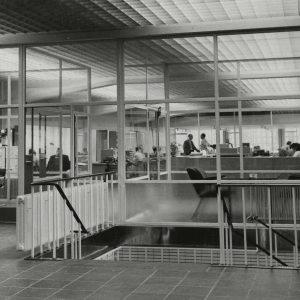 Kantoor van de Blikfabriek Televisiestraat, 1957