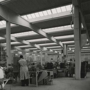 Blik, meetafdeling, Televisiestraat, 1957