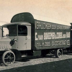Van Boheemen, verhuizer, vrachtwagen met aanhanger, Büssing, 1920-23