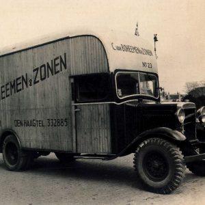 Van Boheemen, vrachtwagen Morris Commercial, jaren 30