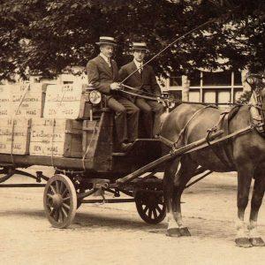 Van Boheemen, verhuizer, paard en wagen, 1902