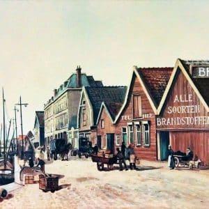 De loodsen van Braber, Leeghwaterkade 1, ca. 1915