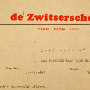 De Zwitsersche zoekt medewerkers voor hun nieuwe filiaal aan het Kleine Loo.