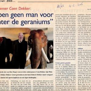 Coen Dekker, 50 jaar Dekker Beheer, ADHC_14 februari 2006