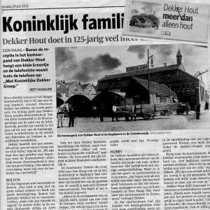 Dekker Hout Koninklijk, ADHC, 29 juni 2010