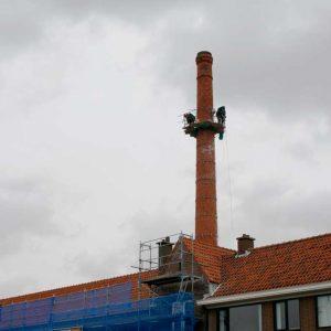 Den Dulk, rokerij, fabrieksschoorsteen, restauratie, Lelykade, 2012