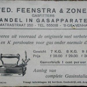 Feenstra, vloeiblad, jaren 30