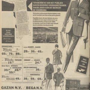 Gazan, advertentie, 1967