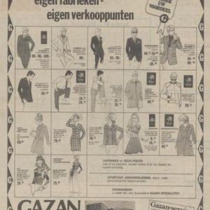 Gazan, advertentie, 1970