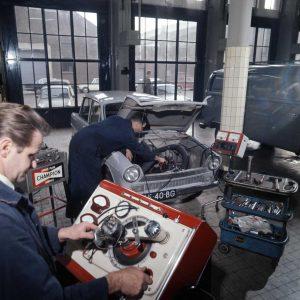 RAC, werkplaats, 1e van der Kunstraat, 1970