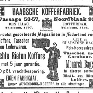 Advertentie Haagsche Kofferfabriek, 1906