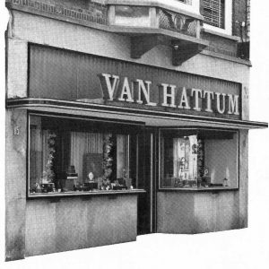 Van Hattum, juwelierswinkel, Noordeinde,1980