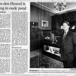 Van den Heuvel, weer open na de brand, 1995