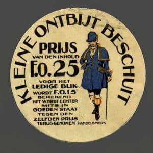Sluitzegel van de Lensvelt Nicola beschuit, jaren 20