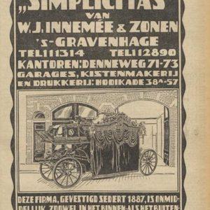 Advertentie, Innemee, 1931